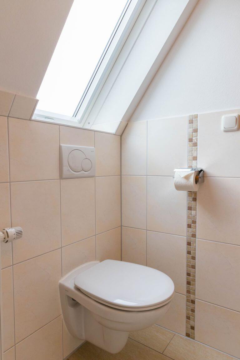 Toilette Eingangsbereich Einzelzimmer St Peter Ording