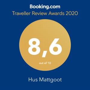 Auszeichnung 2020 Booking.com, Ferienwohnung Sankt Peter Ording - Hus Mattgoot