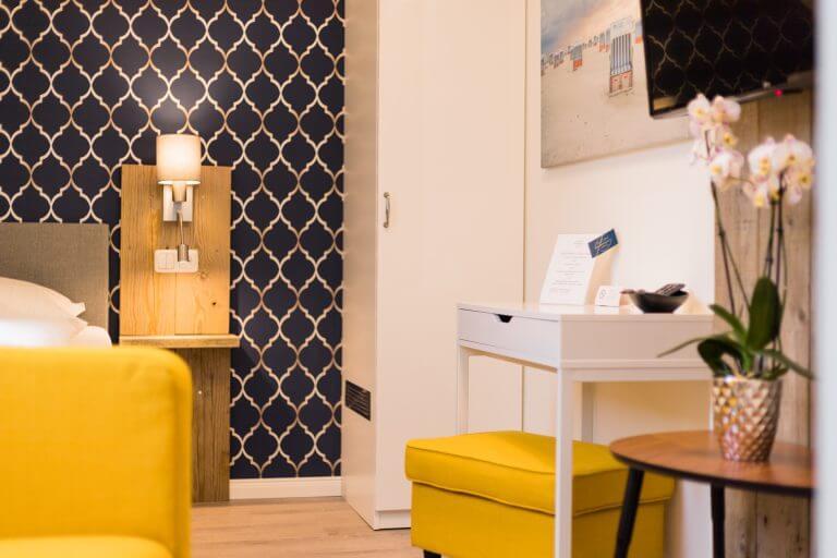 Zimmeransicht Ihres Einzelzimmer in Sankt Peter Ording